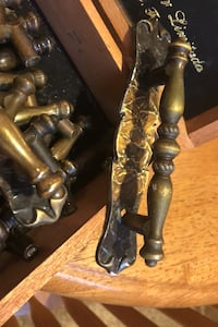 Brass handle cabinet drawer pulls Niles