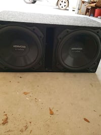 Two Kenwood excelon 12 inch subwoofers