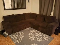 Brown Sectional Couch  Toronto, M4P 1R8