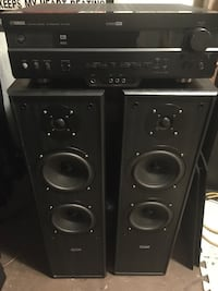 Yamaha receiver and quest tower speakers