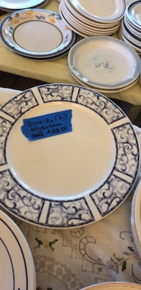 round white and blue ceramic plate Tampa, 33614