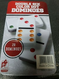 Double six colour dominoes