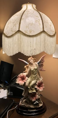Fairestreare Collections Resin Lamp with White Shade Sterling