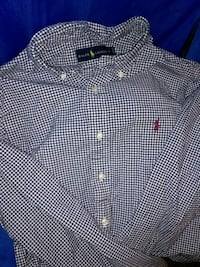 Blue and white polo dress shirt Size L $20 Baltimore