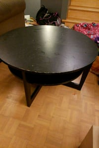 Ikea coffee table, black brown.  Vaudreuil-Dorion, J7V 8P5