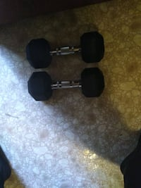 I have 2 of these 20lbs Rubber made hex dumbbells