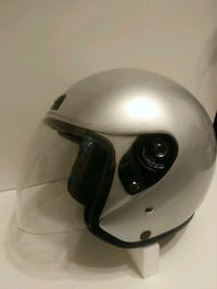 HCI silver open face helmet with shield Largo, 33774