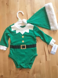 2PC Carter's Elf Bodysuit with Matching Hat 3mo Madison Heights, 48071