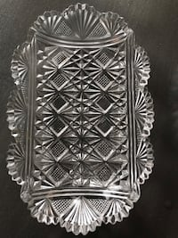 Pressed glass tray. Vintage