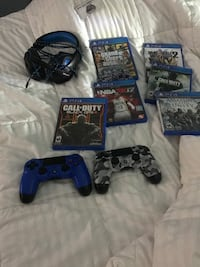 PS4 with Games and headset Nashville, 37072