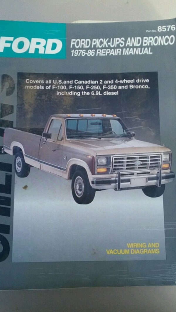 Chiltons 1976-1986 Ford pickups manual on
