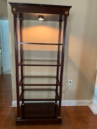 Wood and glass shelves unit Princeton Junction, 08550