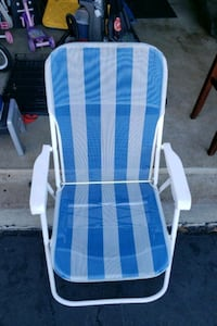 blue and white striped lounge chair Sterling, 20165