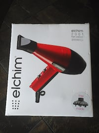 NEW Elchim Professional 2001 High Pressure 2000W Hair Dryer Red Toronto