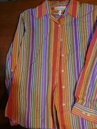 pink, blue, and yellow stripe dress shirt Sweetwater, 37874