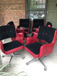 Mid Century Modern - 6 Rolling Dining or Game Or Desk Chairs  Denver, 80206
