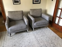 Light grey Chairs pair for sale Toronto, M6C 3Y3