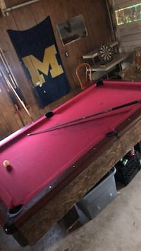red and black pool table Alpena, 49707