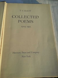TS Eliot collected poems 1909 - 1935 Lancaster, 43130