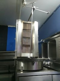silver steel industrial kitchen appliance