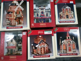 Lemax Holiday Lighted Porcelain Houses