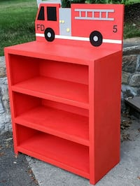 New Hand Crafted Wood Fire Engine Bookcase Pleasantville, 10570
