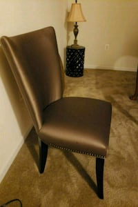black leather padded armless chair Germantown, 20874