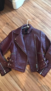 Burgundy Leather Coat  Middletown, 10940