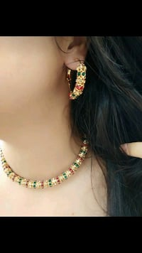 Multi colour Neckless With Earrings Jaipur, 302012
