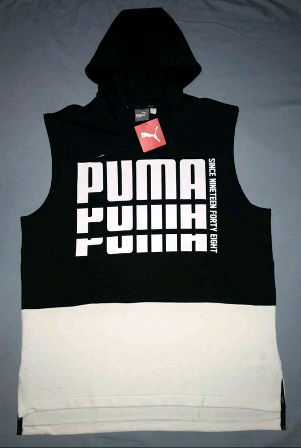 77e58f0fa Used PUMA SLEEVELESS HOODIE. LARGE for sale in Dallas - letgo
