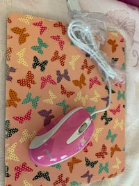Brand New Inland Brand Pink Computer Mouse includes mouse pad