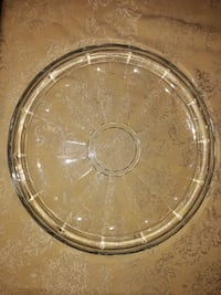 Solid Glass, Pie Wedge Ribbed- Round Serving Platter: Make An Offer, Price Negogiable