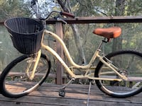 white and black cruiser bike off white with brown leather seat Scotts Valley, 95066