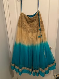 Turquoise two toned lengha. Brand new  Brampton, L6Y 5S1