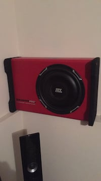 Black and red mtx subwoofer speaker Mission, V2V 6J6