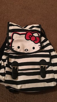 black and white Hello Kitty backpack 1252 mi