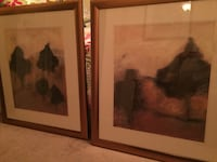 two green trees paintings with brown frame Baltimore, 21224