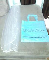Blue Impression Bridal Veil and Tote Bag