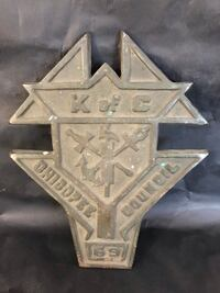 Rare antique Knights Of Columbus Bronze Plaque Chicopee Council null, K0A 3H0