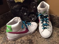Nike white, pink, blue, & green high top shoes ( pls slide to see other photos ) Calgary, T2J