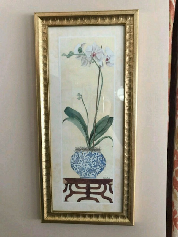 Orchid Art Print from Bombay Home Furnishings