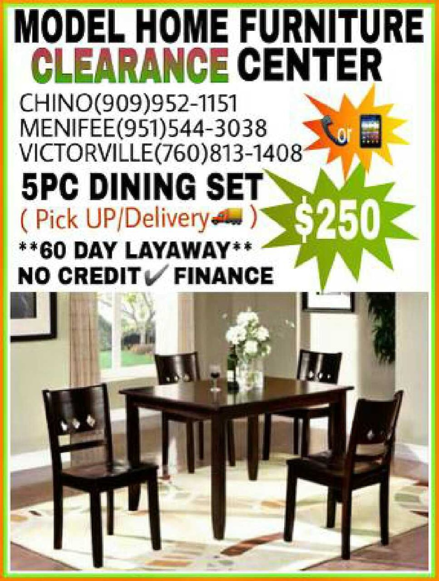 Model home furniture clearance center menifee
