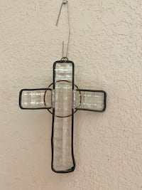Hanging Stain glass Cross