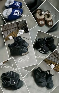 Toddler shoes $25 takes all Oneida, 13421