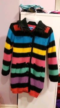 Girls Size 7/8 3/4 Length Sweater Jacket Mississauga, L5M 0B7