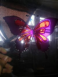 Butterfly stained plastic art Gatineau, J8Z 1T7