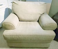 gray fabric sofa chair with throw pillow Mississauga, L4W 2G3