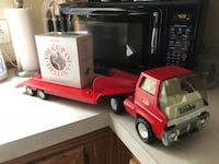 Vintage Child's Toy Truck - Tonka Tractor Trailer Flatbed Low Boy HTF Pressed Steel Toy - Available & Negotiable  Farmington Hills, 48336