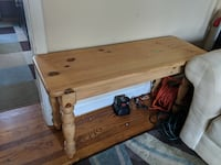 Wooden Side Table null