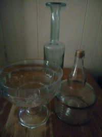 two clear glass candle holders Wichita, 67218